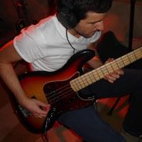 "Seb ""Mr 1 Take"" on the bass guitar"